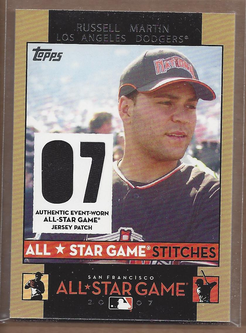 2007 Topps Update All-Star Stitches #RM Russell Martin