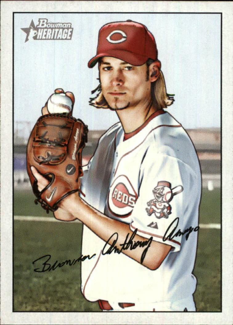 2007 Bowman Heritage Baseball Card #72 Bronson Arroyo Near Mint//Mint