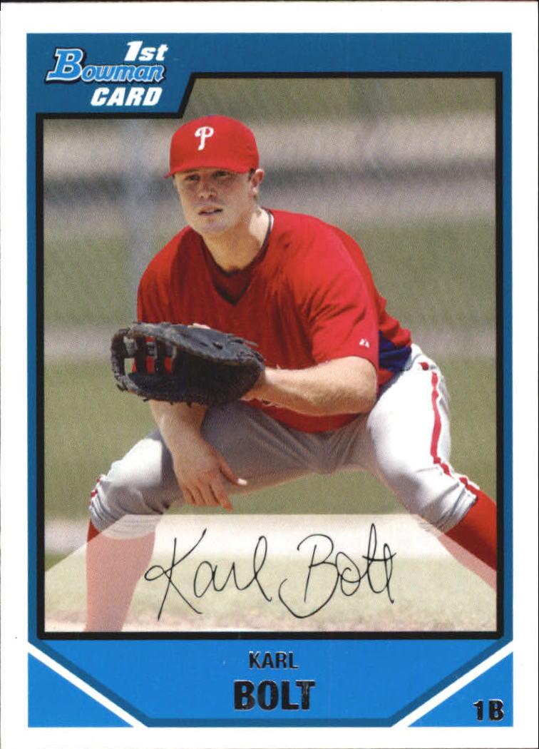 2007 Bowman Chrome Draft Draft Picks #BDPP2 Karl Bolt