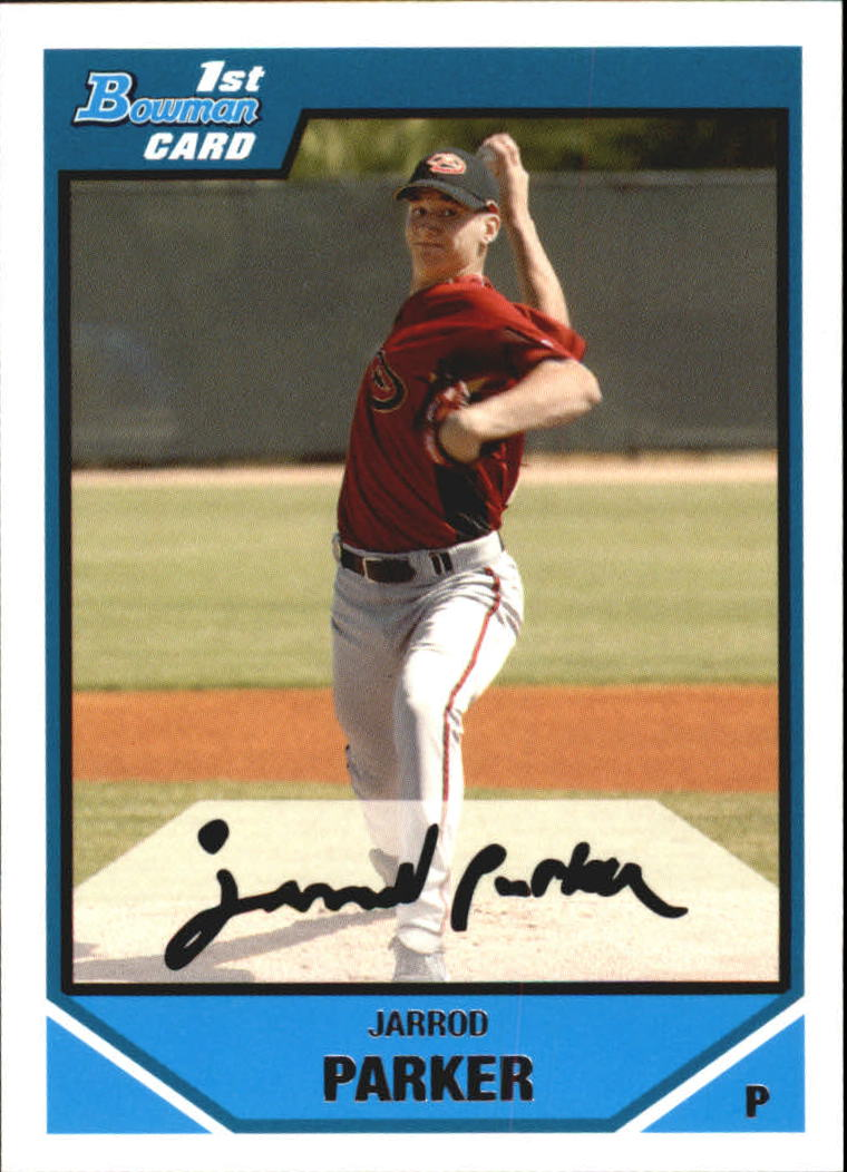 2007 Bowman Chrome Draft Draft Picks #BDPP58 Jarrod Parker