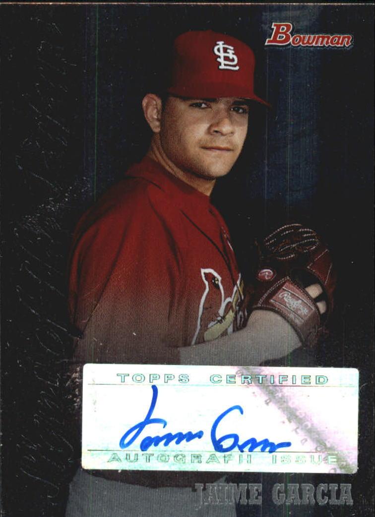 2007 Bowman Draft Signs of the Future #JGA Jamie Garcia
