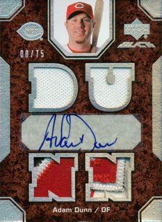 2007 UD Black #10 Adam Dunn Jsy AU/75