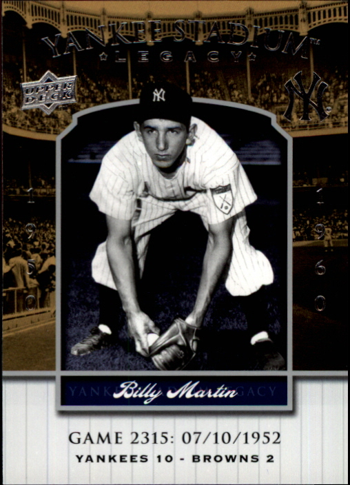 2008 Upper Deck Yankee Stadium Legacy Collection #2315 Billy Martin