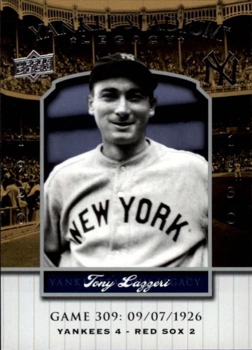 2008 Upper Deck Yankee Stadium Legacy Collection #309 Tony Lazzeri