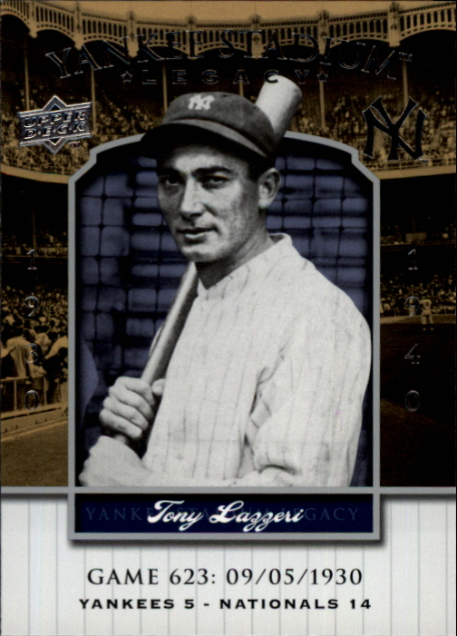 2008 Upper Deck Yankee Stadium Legacy Collection #623 Tony Lazzeri