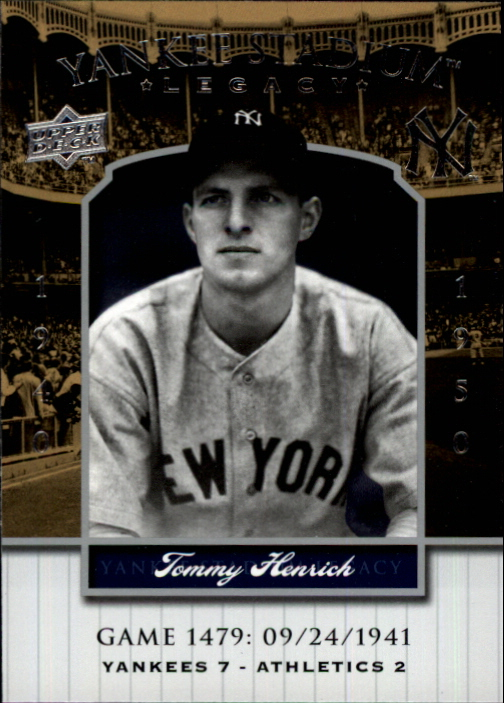 2008 Upper Deck Yankee Stadium Legacy Collection #1476 Tommy Henrich