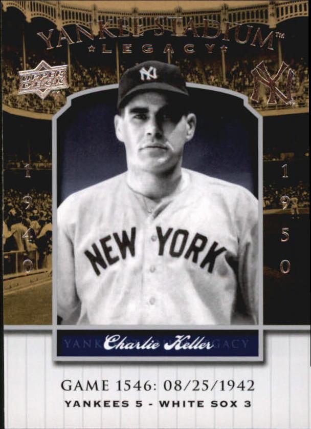 2008 Upper Deck Yankee Stadium Legacy Collection #1546 Charlie Keller