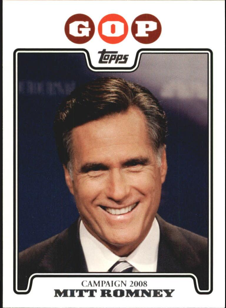 2008 Topps Campaign 2008 #MR Mitt Romney