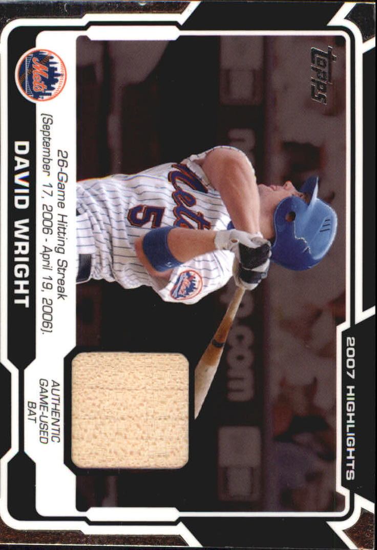 2008 Topps Highlights Relics #DW David Wright D