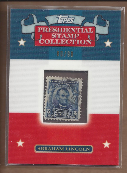 2008 Topps Presidential Stamp Collection #AL5 Abraham Lincoln