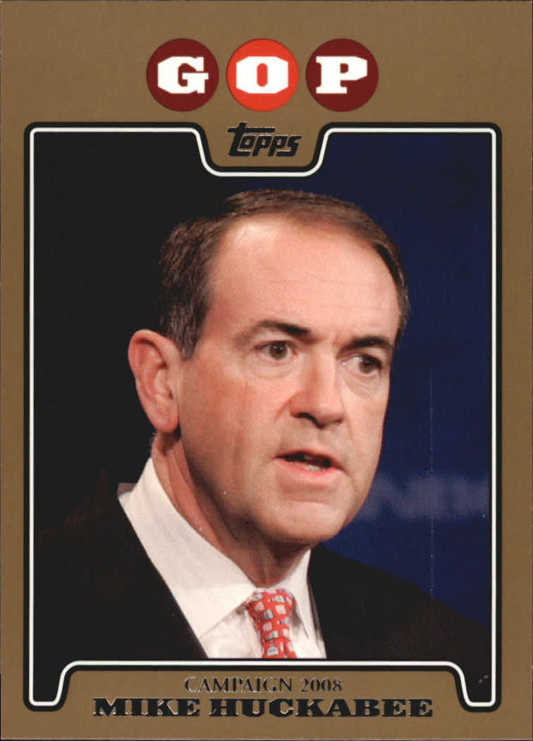 2008 Topps Campaign 2008 Gold #MH Mike Huckabee