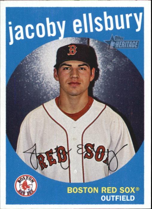 2008 Topps Heritage #6 Jacoby Ellsbury