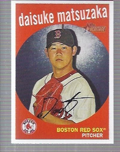 2008 Topps Heritage #308 Daisuke Matsuzaka
