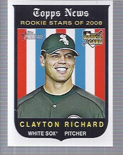 2008 Topps Heritage #716 Clayton Richard SP (RC)