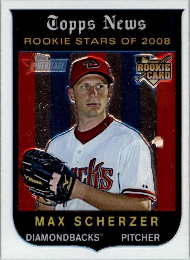 2008 Topps Heritage Chrome #C298 Max Scherzer