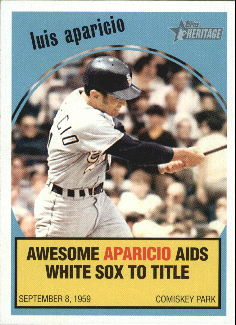 2008 Topps Heritage Baseball Flashbacks #BF2 Luis Aparicio