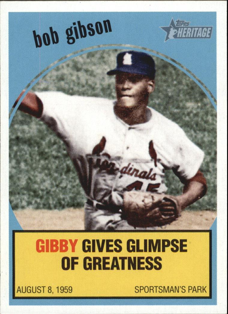 2008 Topps Heritage Baseball Flashbacks #BF5 Bob Gibson
