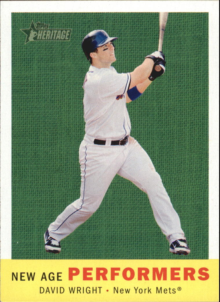 2008 Topps Heritage New Age Performers #NAP5 David Wright