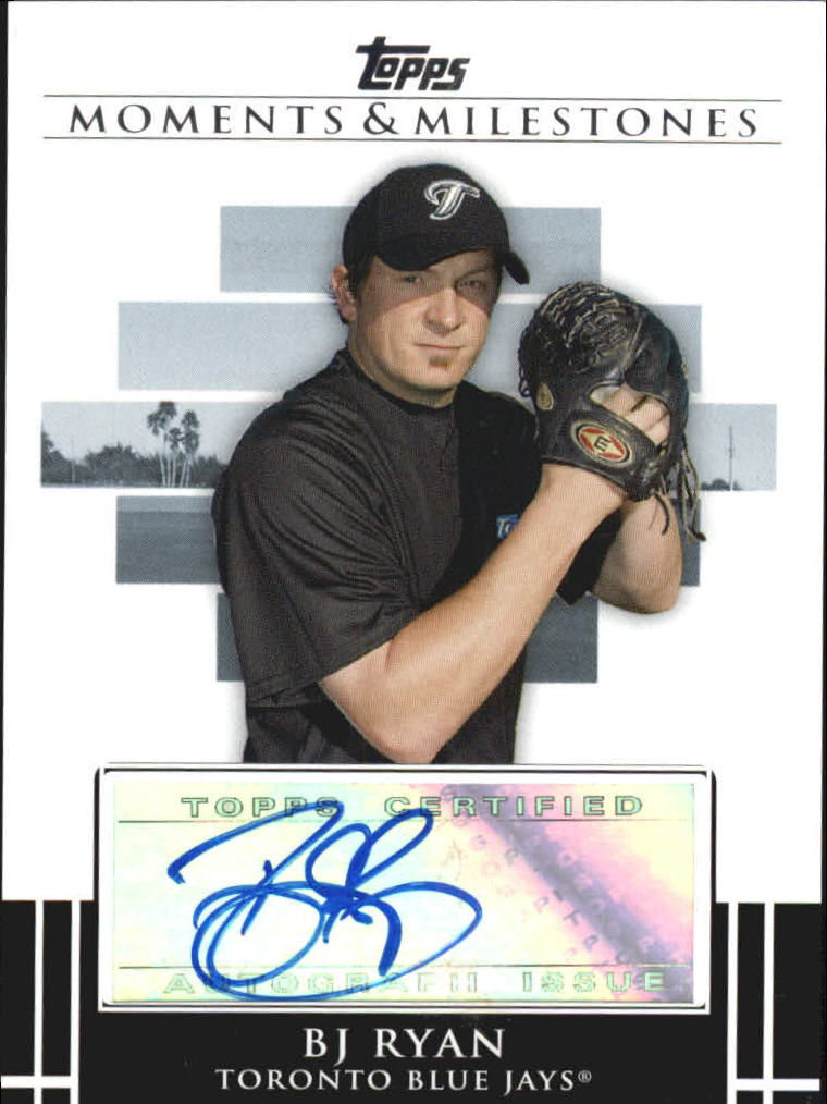 2008 Topps Moments and Milestones Milestone Autographs #BR B.J. Ryan A