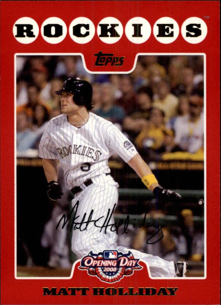 Details About 2008 Topps Opening Day Baseball Card 152 Matt Holliday