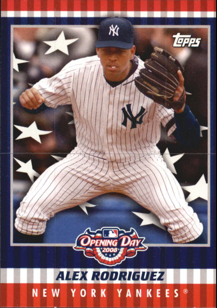 2008 Topps Opening Day Flapper Cards Ar Alex Rodriguez Nm Mt