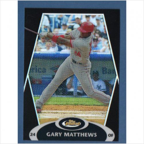 2008 Finest Refractors Black #54 Gary Matthews