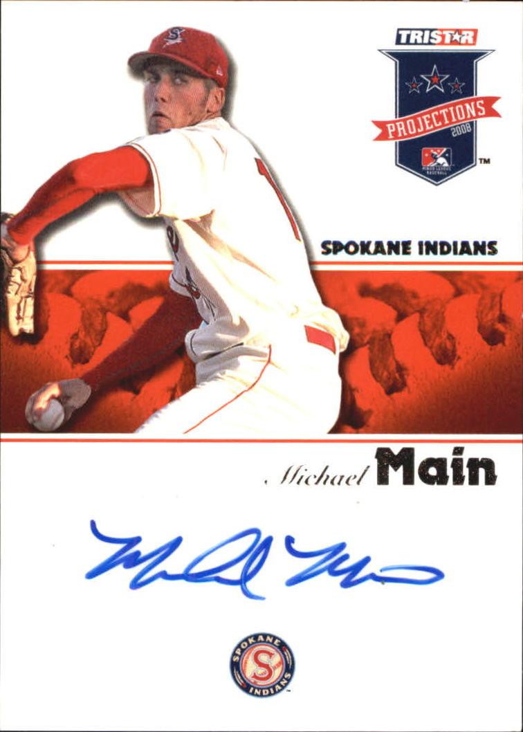 2008 TRISTAR PROjections Autographs #96 Michael Main