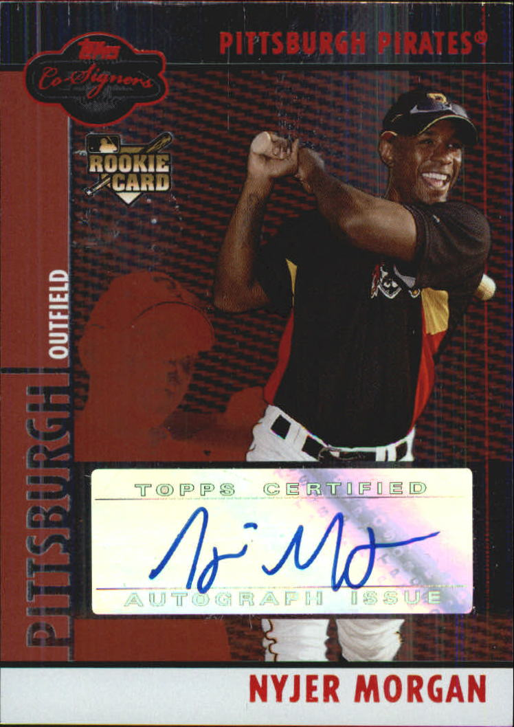 2008 Topps Co-Signers Silver Red #105 Nyjer Morgan AU