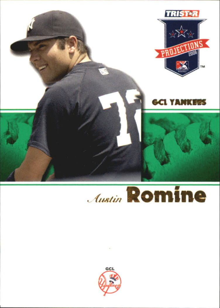 2008 TRISTAR PROjections Autographs Green #20 Austin Romine