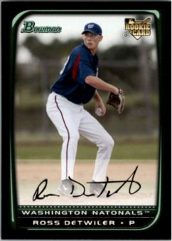 2008 Bowman #207 Ross Detwiler RC