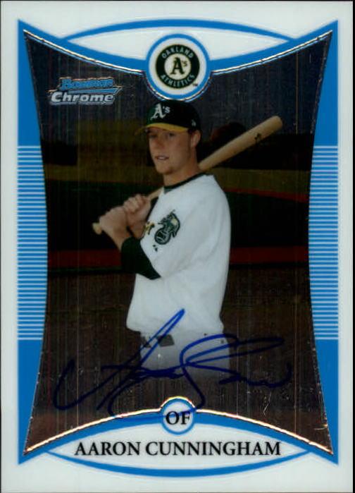 2008 Bowman Chrome Prospects #BCP275 Aaron Cunningham AU