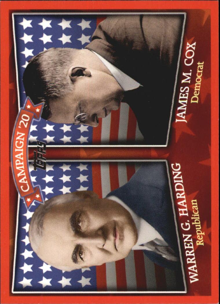 2008 Topps Historical Campaign Match-Ups #1920 Warren G. Harding/James M. Cox