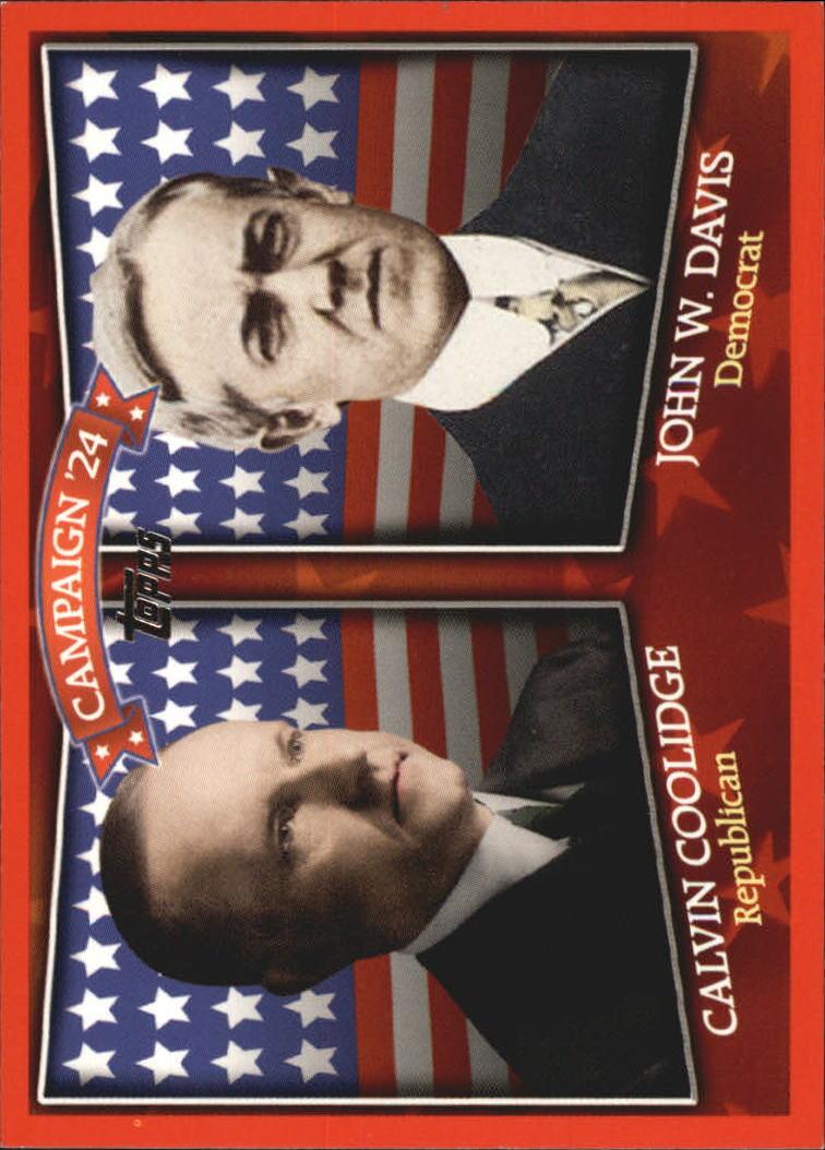 2008 Topps Historical Campaign Match-Ups #1924 Calvin Coolidge/John W. Davis