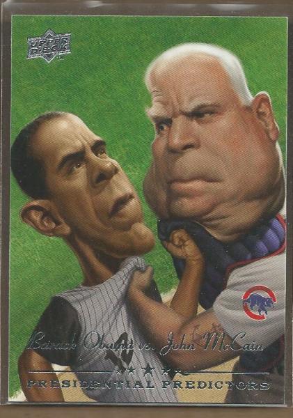 2008 Upper Deck Presidential Running Mate Predictors #PP10 Barack Obama/John McCain