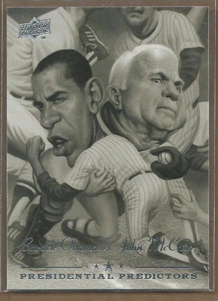 2008 Upper Deck Presidential Running Mate Predictors #PP13 Barack Obama/John McCain
