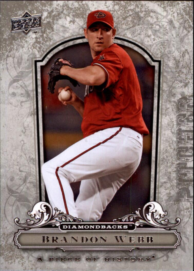 2008 UD A Piece of History #1 Brandon Webb