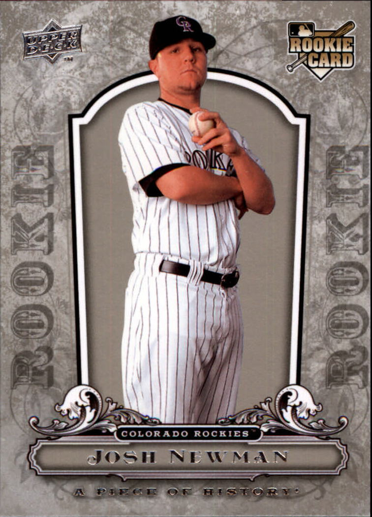 2008 UD A Piece of History #114 Josh Newman RC