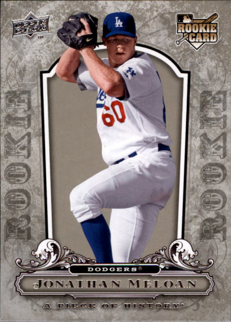 2008 UD A Piece of History #124 Jonathan Meloan RC