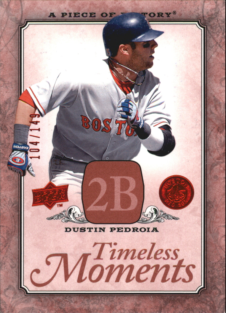 2008 UD A Piece of History Timeless Moments Red #7 Dustin Pedroia