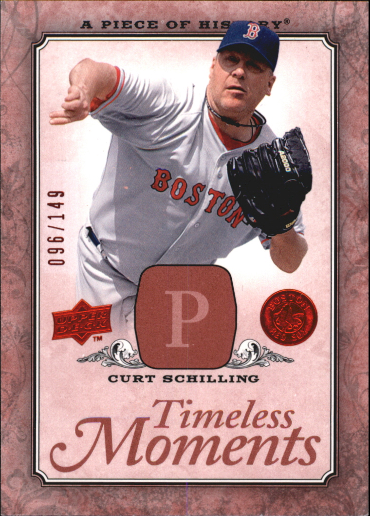 2008 UD A Piece of History Timeless Moments Red #9 Curt Schilling