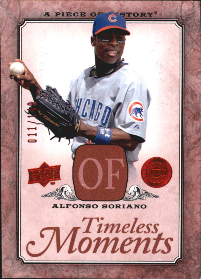 2008 UD A Piece of History Timeless Moments Red #11 Alfonso Soriano