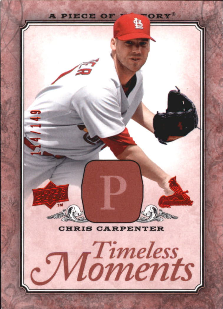 2008 UD A Piece of History Timeless Moments Red #48 Chris Carpenter