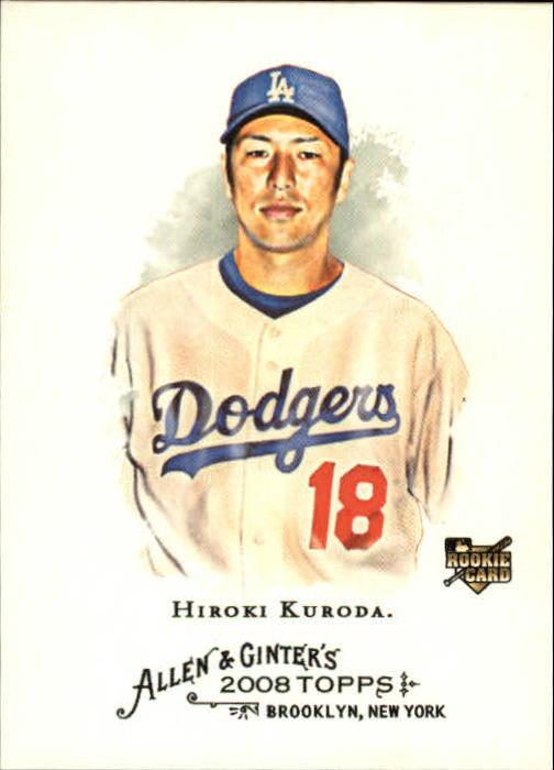 2008 Topps Allen and Ginter #16 Hiroki Kuroda RC