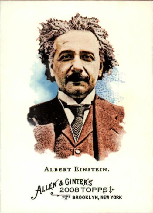 2008 Topps Allen and Ginter #19 Albert Einstein