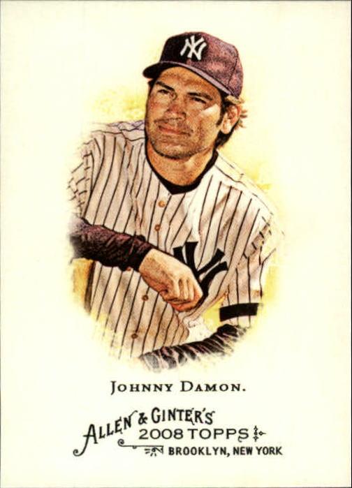 2008 Topps Allen and Ginter #58 Johnny Damon
