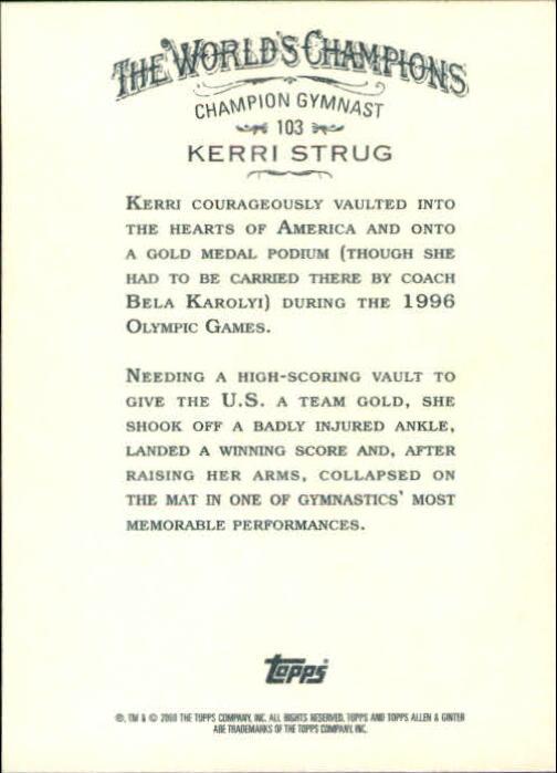 2008 Topps Allen and Ginter #103 Kerri Strug back image
