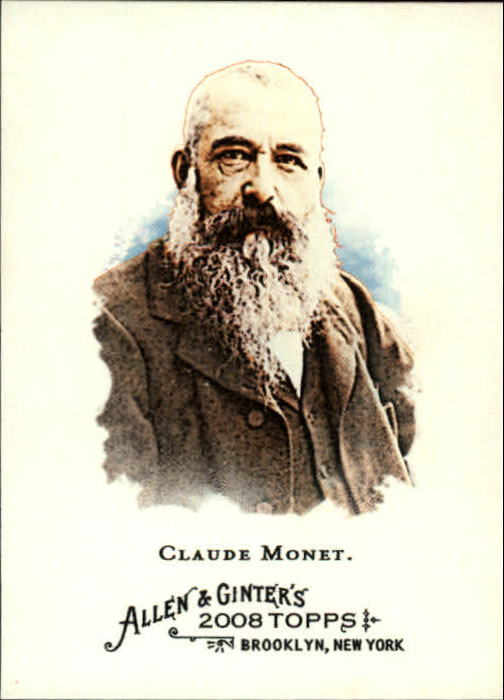 2008 Topps Allen and Ginter #176 Claude Monet