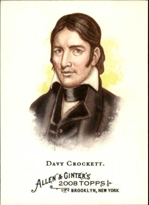 2008 Topps Allen and Ginter #232 Davy Crockett