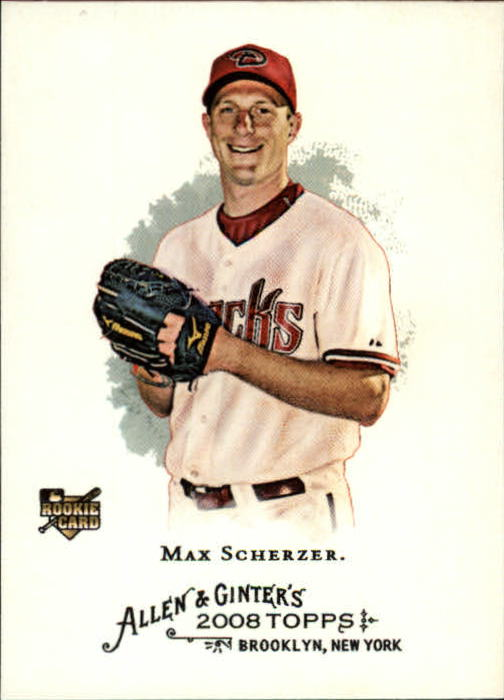 2008 Topps Allen and Ginter #297 Max Scherzer RC