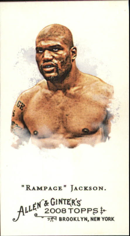 2008 Topps Allen and Ginter Mini #189 Rampage Jackson